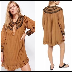 Free People Erin Embroidered Dress XS NWT